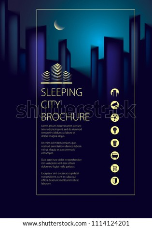 night city traveling tourist guide book stock illustration
