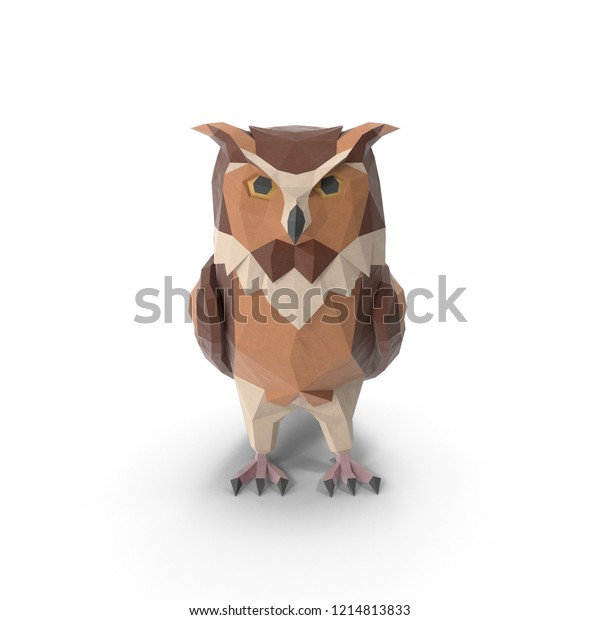 Night Owl 3d Isolated Front View Stock Illustration 1214813833