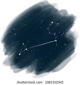 Night Sky digital background Star Constellation Leo