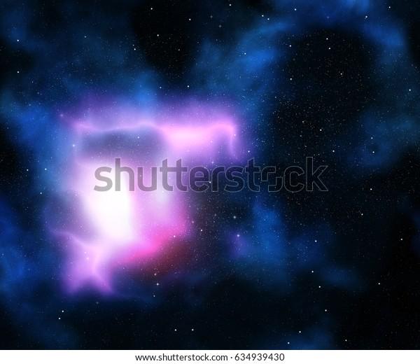 Night sky with galaxy and stars