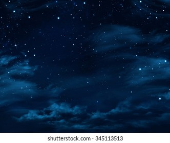 night sky, starry background