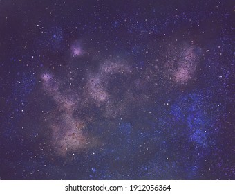 Night sky with stars as background. Universe. Cosmos. Galaxy