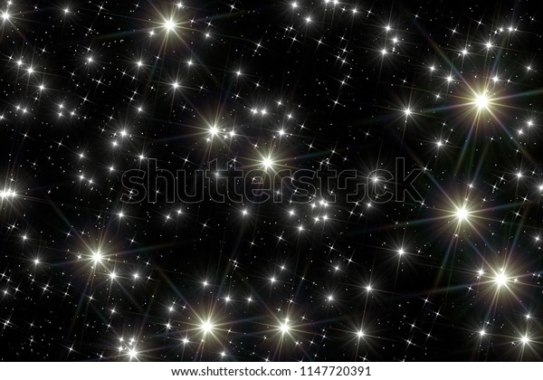 Night space background.
