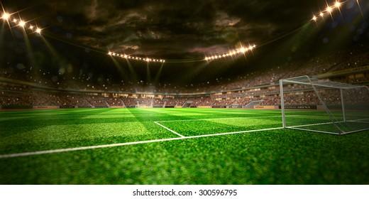 Night stadium arena soccer field