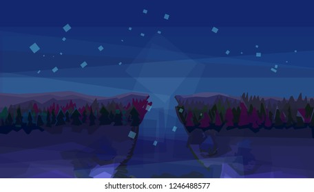 Night view.Background colorful.background color abstrak.background color overlay.background color blue
