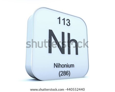 Royalty Free Stock Illustration Of Nihonium 113 New Chemical
