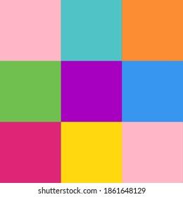 Nine Square Coloured Geometric Pattern.3×3 Grid Pattern.