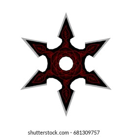 Ninja Star Shuriken - 3D render