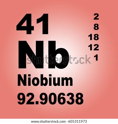 Niobium Periodic Table Elements Stock Illustration 605311973