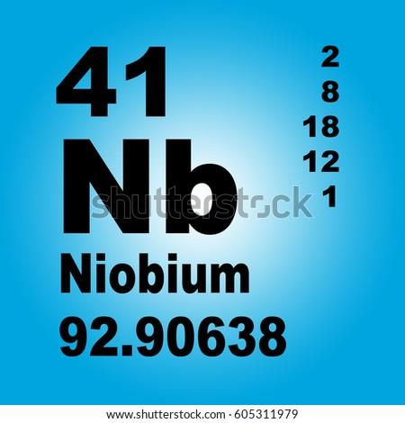 Niobium Periodic Table Elements Stock Illustration 605311979