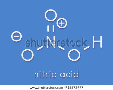Nitric Acid Hno 3 Strong Mineral Acid Stock Illustration 715572997