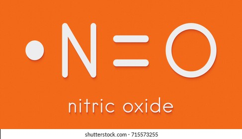 Nitric oxide (NO) free radical and signaling molecule. Skeletal formula.