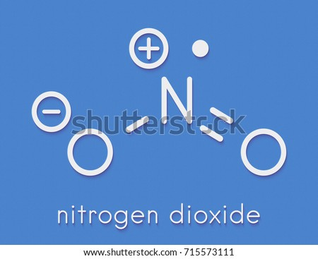 Nitrogen Dioxide No 2 Air Pollution Molecule Stock Illustration