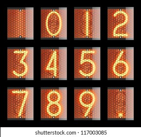 Nixie tube indicator. The number of retro. Vector version also available in my portfolio.