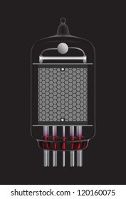 Nixie tube indicator. Vector version also available in my portfolio.