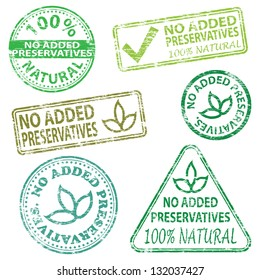 No added preservatives  Rubber stamp illustrations