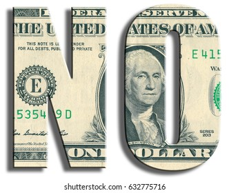 No, answer or protest against something. US Dollar texture.