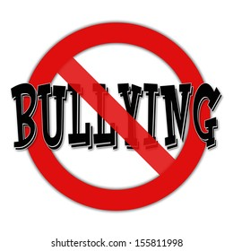 No bullying sign on white background