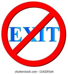 No exit logo on a white background.