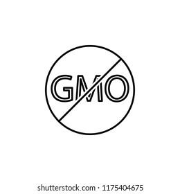 No GMO outline icon. Element of ecology icon for mobile concept and web apps. Thin line No GMO can be used for web and mobile