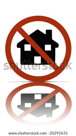 no house allowed over white reflections stock illustration 20292631 rh shutterstock com