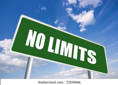 No limits road sign