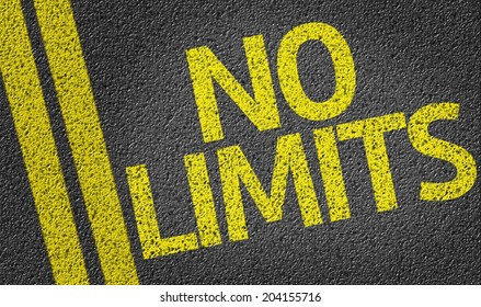 No Limits written on the road