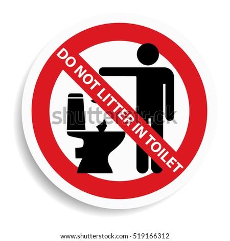 No Littering Sign On White Background Stock Illustration 519166312