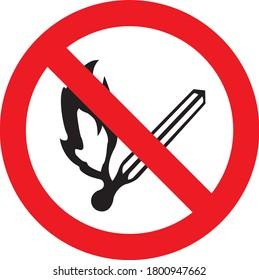 No naked flames signs and symbols