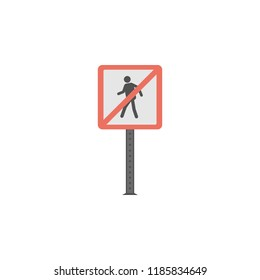 No pedestrians colored icon. Element of road signs and junctions icon for mobile concept and web apps. Colored No pedestrians can be used for web and mobile