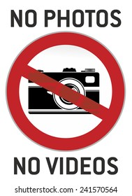 no photography and video sign or pictogram