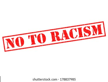 NO TO RACISM red Rubber Stamp over a white background.