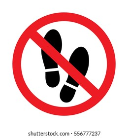 No shoes sign on white background-01