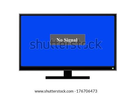 No Signal On Screen Television Stock Illustration 176706473