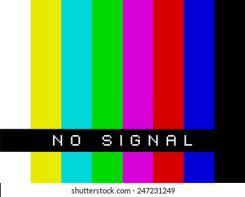 No signal on TV screen - basic colors