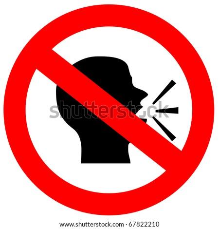 no speak signのイラスト素材 67822210 shutterstock