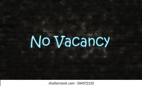 No vacancy, no rooms available