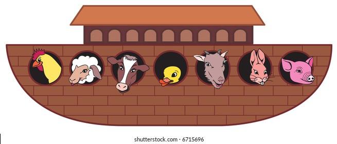 Noahs Ark with animals