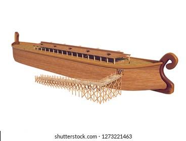 noah's ark illustration 3d