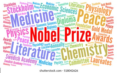 Nube de palabras del Premio Nobel