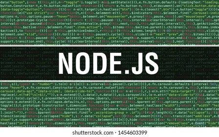 NODE.JS text written on Programming code abstract technology background of software developer and Computer script. NODE.JS concept of code on computer monitor. Coding NODE.JS programming website