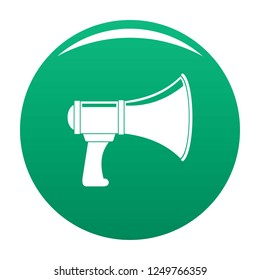 Noise of megaphone icon. Simple illustration of noise of megaphone icon for any design green