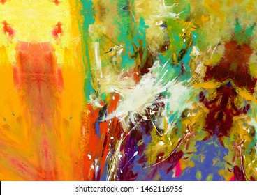 noise Oil on canvas Abstract texture background. Art wallpaper. Artistic artwork. Colorful digital painting. Stock. Big size pictorial art. Good as pattern for design posters,