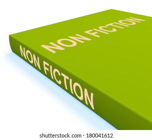 Non Fiction Book Showing Educational Text Or Facts