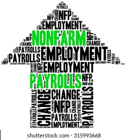Non-farm employment change, payrolls or NFP. One of the most important macroeconomic indicator from US job market, released monthly.