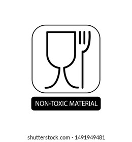 Non-toxic material sign. Flat packaging symbol. Mail box icon isolated on white