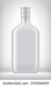 Non-transparent bottle on background. 3d rendering