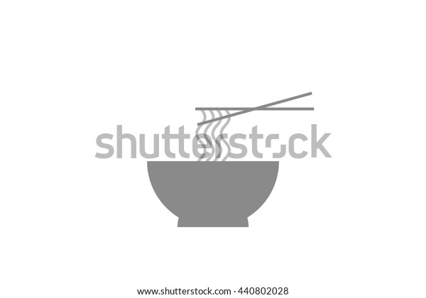 Noodle Noodle Soup Noodle Icon Stock Illustration 440802028