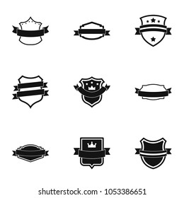 Norm icons set. Simple set of 9 norm icons for web isolated on white background