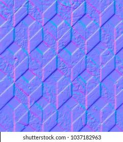 Normal map of geometric marble floor